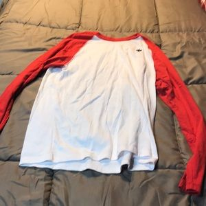 94b18d3c21c666 ... Abercrombie kids size 15 16 white and red shirt ...